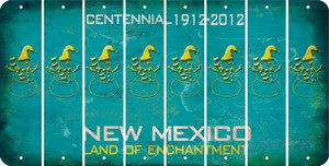 New Mexico SNOWMAN Cut License Plate Strips (Set of 8) LPS-NM1-079