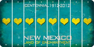 New Mexico HEART Cut License Plate Strips (Set of 8) LPS-NM1-081
