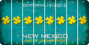 New Mexico SHAMROCK Cut License Plate Strips (Set of 8) LPS-NM1-082