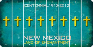 New Mexico CROSS Cut License Plate Strips (Set of 8) LPS-NM1-083