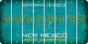 New Mexico FLIP FLOPS Cut License Plate Strips (Set of 8) LPS-NM1-085