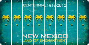 New Mexico SNAKE Cut License Plate Strips (Set of 8) LPS-NM1-088
