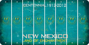 New Mexico SMILEY FACE Cut License Plate Strips (Set of 8) LPS-NM1-089