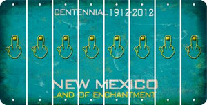 New Mexico MIDDLE FINGER Cut License Plate Strips (Set of 8) LPS-NM1-091