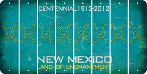 New Mexico SKULL Cut License Plate Strips (Set of 8) LPS-NM1-092