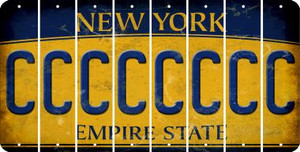 New York C Cut License Plate Strips (Set of 8) LPS-NY1-003