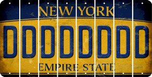 New York D Cut License Plate Strips (Set of 8) LPS-NY1-004