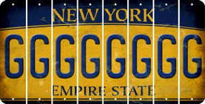 New York G Cut License Plate Strips (Set of 8) LPS-NY1-007