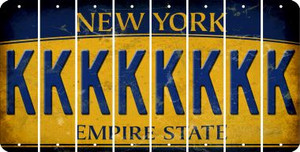New York K Cut License Plate Strips (Set of 8) LPS-NY1-011