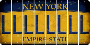 New York L Cut License Plate Strips (Set of 8) LPS-NY1-012
