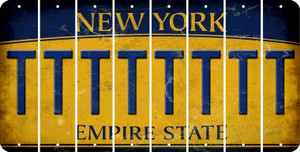 New York T Cut License Plate Strips (Set of 8) LPS-NY1-020