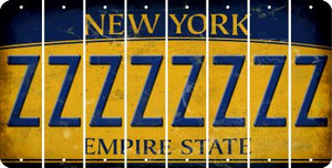 New York Z Cut License Plate Strips (Set of 8) LPS-NY1-026