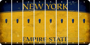 New York APOSTROPHE Cut License Plate Strips (Set of 8) LPS-NY1-038