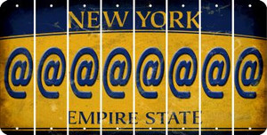 New York ASPERAND Cut License Plate Strips (Set of 8) LPS-NY1-039