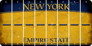 New York HYPHEN Cut License Plate Strips (Set of 8) LPS-NY1-044