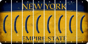 New York LEFT PARENTHESIS Cut License Plate Strips (Set of 8) LPS-NY1-045