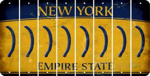 New York RIGHT PARENTHESIS Cut License Plate Strips (Set of 8) LPS-NY1-048