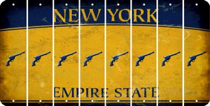 New York PISTOL Cut License Plate Strips (Set of 8) LPS-NY1-053