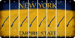 New York SHOTGUN Cut License Plate Strips (Set of 8) LPS-NY1-054