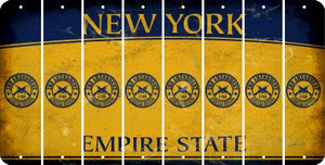 New York 2ND AMENDMENT Cut License Plate Strips (Set of 8) LPS-NY1-056