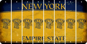 New York BASKETBALL HOOP Cut License Plate Strips (Set of 8) LPS-NY1-058