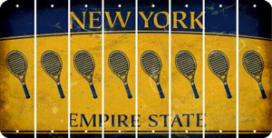 New York TENNIS Cut License Plate Strips (Set of 8) LPS-NY1-064