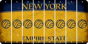 New York VOLLEYBALL Cut License Plate Strips (Set of 8) LPS-NY1-065
