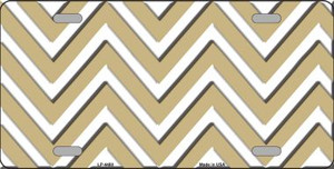 Gold White Chevron Wholesale Metal Novelty License Plate LP-4480