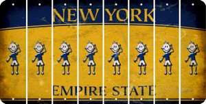 New York TEEN BOY Cut License Plate Strips (Set of 8) LPS-NY1-068