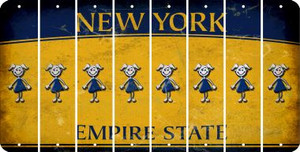 New York TEEN GIRL Cut License Plate Strips (Set of 8) LPS-NY1-069