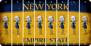 New York MOM Cut License Plate Strips (Set of 8) LPS-NY1-070