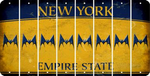 New York BAT Cut License Plate Strips (Set of 8) LPS-NY1-074