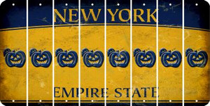 New York PUMPKIN Cut License Plate Strips (Set of 8) LPS-NY1-075