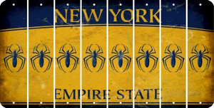 New York SPIDER Cut License Plate Strips (Set of 8) LPS-NY1-076