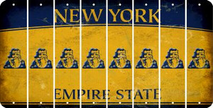 New York SANTA Cut License Plate Strips (Set of 8) LPS-NY1-078