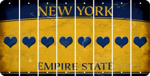 New York HEART Cut License Plate Strips (Set of 8) LPS-NY1-081