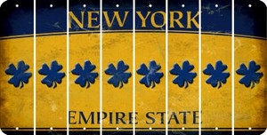 New York SHAMROCK Cut License Plate Strips (Set of 8) LPS-NY1-082