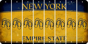 New York FLIP FLOPS Cut License Plate Strips (Set of 8) LPS-NY1-085