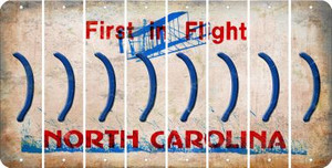 North Carolina RIGHT PARENTHESIS Cut License Plate Strips (Set of 8) LPS-NC1-048