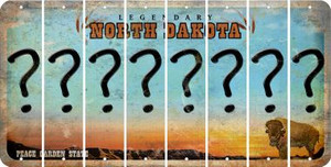North Dakota QUESTION MARK Cut License Plate Strips (Set of 8) LPS-ND1-047