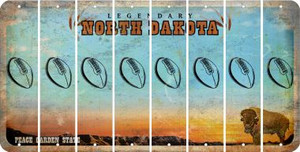 North Dakota FOOTBALL Cut License Plate Strips (Set of 8) LPS-ND1-060