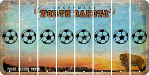 North Dakota SOCCERBALL Cut License Plate Strips (Set of 8) LPS-ND1-061