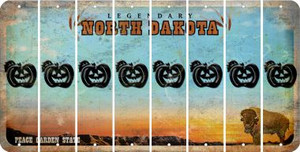 North Dakota PUMPKIN Cut License Plate Strips (Set of 8) LPS-ND1-075