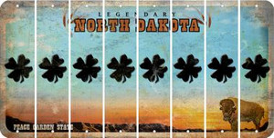 North Dakota SHAMROCK Cut License Plate Strips (Set of 8) LPS-ND1-082