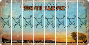 North Dakota SKULL Cut License Plate Strips (Set of 8) LPS-ND1-092