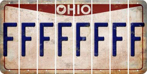 Ohio F Cut License Plate Strips (Set of 8) LPS-OH1-006