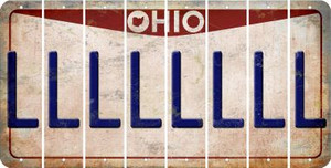 Ohio L Cut License Plate Strips (Set of 8) LPS-OH1-012