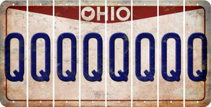 Ohio Q Cut License Plate Strips (Set of 8) LPS-OH1-017