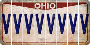 Ohio V Cut License Plate Strips (Set of 8) LPS-OH1-022