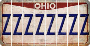Ohio Z Cut License Plate Strips (Set of 8) LPS-OH1-026